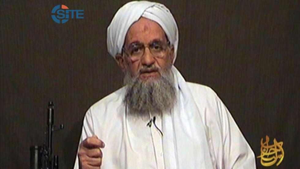 VARSLER HEVN: Al-Qaida nestleder Ayman al-Zawahiri oppfordrer til individuell jihad i en video som skal ha blitt spilt inn etter Osama bin Ladens død. Foto: AFP/SITE INTELLIGENCE GROUP/HO/FILES