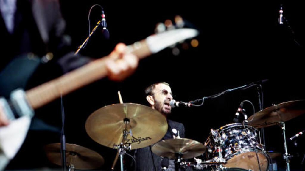 BAK TROMMENE: Ringo Starr på Norwegian Wood. Foto: Nina Hansen / Dagbladet