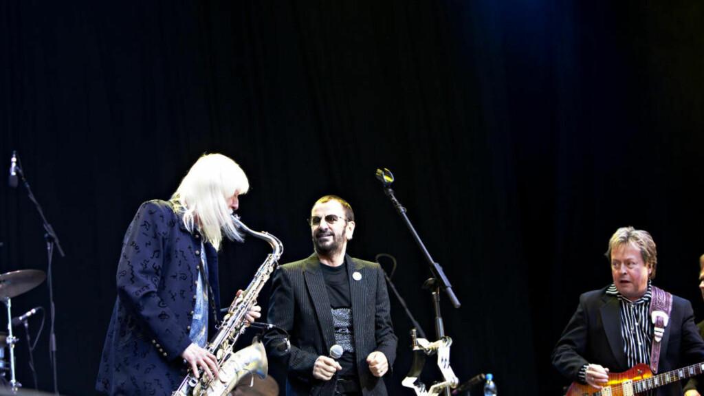 RINGOS ALL STARS:  Edgar Winter (t.v.), Ringo Starr og Rick Derringer på Norwegian Wood lørdag kveld. Foto: Nina Hansen / Dagbladet