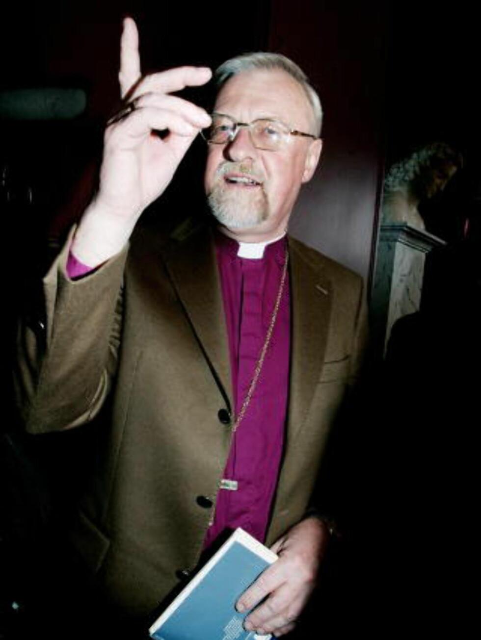 IKKE INFORMERT: Biskop Ole Christian Kvarme kjente ikke til at presteboligen skulle brukes til å promotere den nye boka til Gelius  Foto: Jeanette Landfald/Dagbladet.