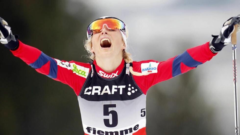 IMPONERTE: Therese Johaug ble nummer to etter Justyna Kowalczyk i går, i dag fulgte hun opp med å bli nummer to også sammenlagt i Tour de Ski.   Foto: Gorm Kallestad / Scanpix