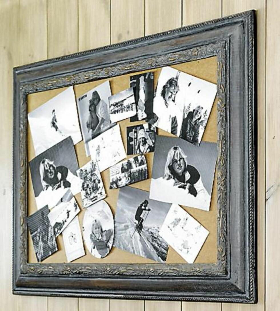 PERSONLIG VEGG: Vil du ha en vegg med et helt personlig preg kan du lage en bildecollage av ulike fotografier. Originalt og dekorativt. Foto: Per Erik Jæger
