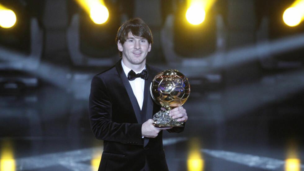 VERDENS BESTE - IGJEN: Som for ett år siden ble Lionel Messi i kveld kåret til verdens beste fotballspiller. Foto: CHRISTIAN HARTMANN/REUTERS