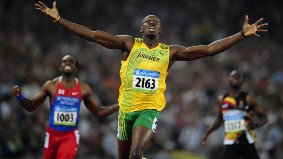 PÅ VEI TIL OSLO: Stevnesjef for Bislett Games, Steinar Hoen, har lovet at Usain Bolt vil komme til Oslo i løpet av kort tid. Nå har han trolig sikret seg jamaicaneren til stevnet 9. juni. Prislappen ligger trolig på godt over halvannen million kroner. Foto: REUTERS/Dylan Martinez