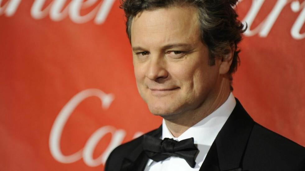 KONGE MED TALEFEIL: Colin Firth spiller kong George VI i det historiske dramaet «The King's Speech». Men innspillingene gikk ikke så rolig for seg som man kanskje skulle trodd.  EPA/PAUL BUCK