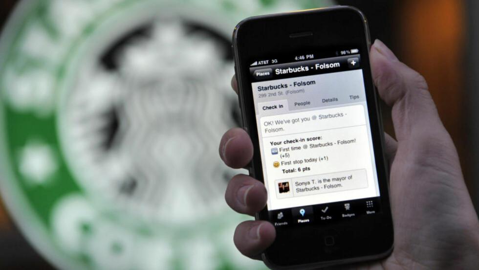 INNSJEKK: En Foursquare-bruker har sjekket inn på en kaffebar i San Francisco. Foto: SCANPIX