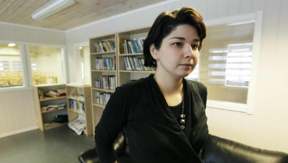 MÅ UT AV NORGE: Maria Amelie, opprinnelig fra Kakasus,  ble pågrepet på Lillehammer onsdag kveld.Ifølge politiet skal hun sendes ut av landet så fort som mulig. Foto: Cornelius Poppe / SCANPIX