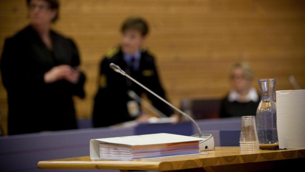 BILDEMAPPA: Denne permen med bilder har blitt forelagt de tiltalte i saken. Den inneholder svært rystende bilder av barna. Foto: Tomm W. Christiansen