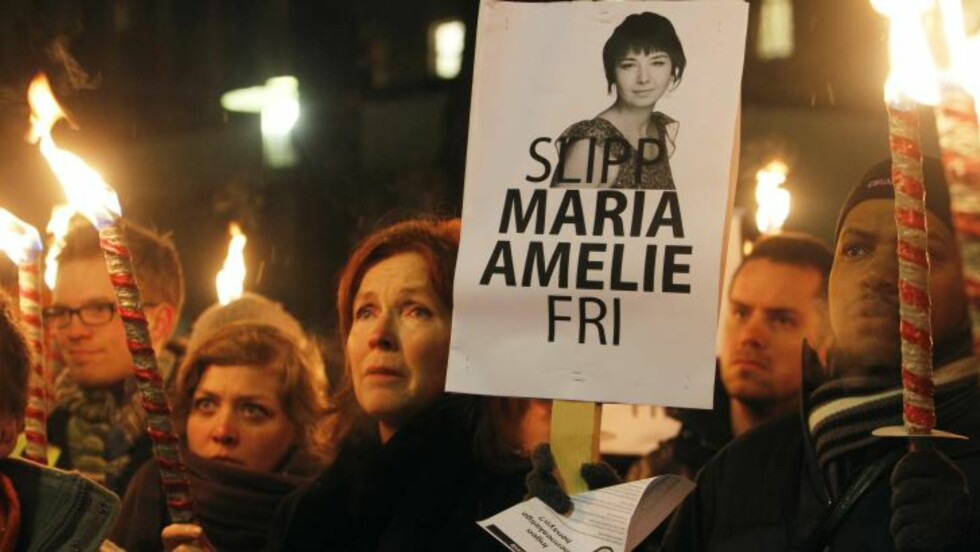 <strong>KLAR TALE:</strong>  Slipp Maria Amelie fri mente folket i kveld. Foto: Scanpix