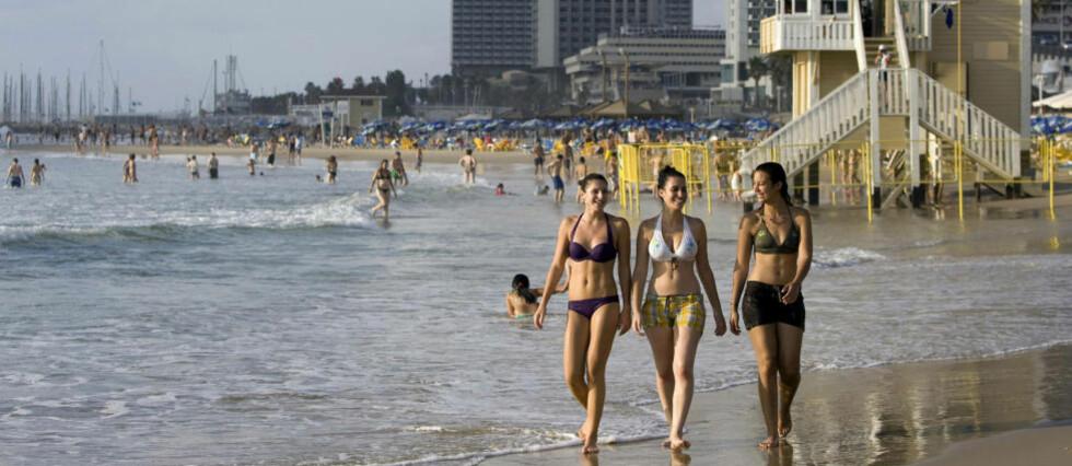 TRENDY: National Geographic omtaler Tel Aviv som Middelhavets Miami Beach. Foto: JONATHAN NACKSTRAND/AFP/SCANPIX
