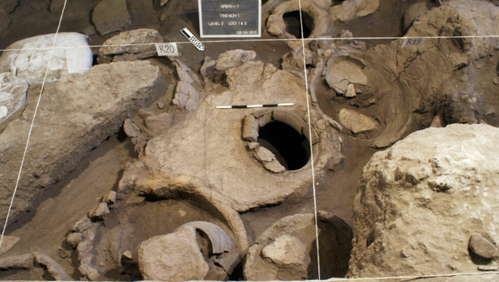 GAMMEL VIN: I Arenigrottene i Armenia er det funnet rester etter ordentlig gammel vin, omtrent 6000 år gammel.  Foto: AP Photo/Gregory Areshian, National Geographic