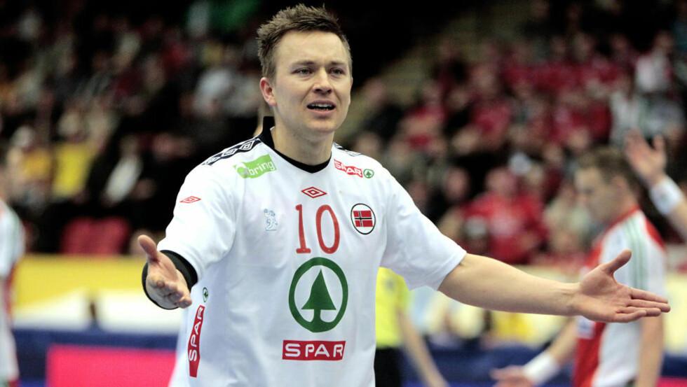 FORTVILTE: Håvard Tvedten scoret seks og var blant Norges bedre spillere. Det holdt derimot ikke til seier.