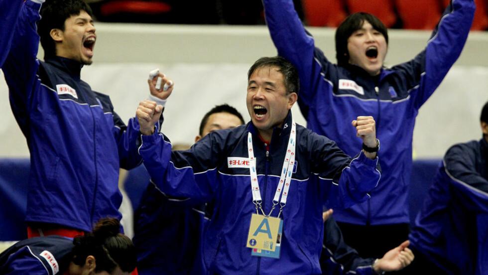 JAPANSK EKSTASE: Få levnet japanerne særlige sjanser før VM. Nå har de tatt en aldri så liten skalp, ved å slå Østerrike.