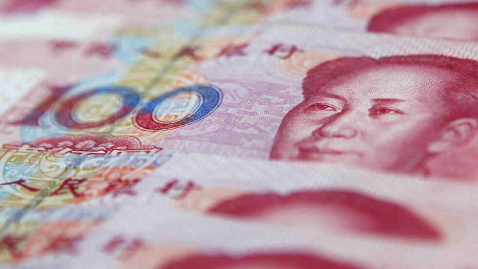 ØNSKER Å REVALUERE YUANEN: Kina holder sin valuta yuanen kunstig lav, hevder en gruppe amerikanske senatorer som nå tar til orde for amerikanske straffereaksjoner mot Kina for å presse landet til å revaluere yuanen. Valutaens lave kurs gir kinesiske produsenter en prisfordel ved eksport til USA. Foto: REUTERS / Carlos Barria / SCANPIX