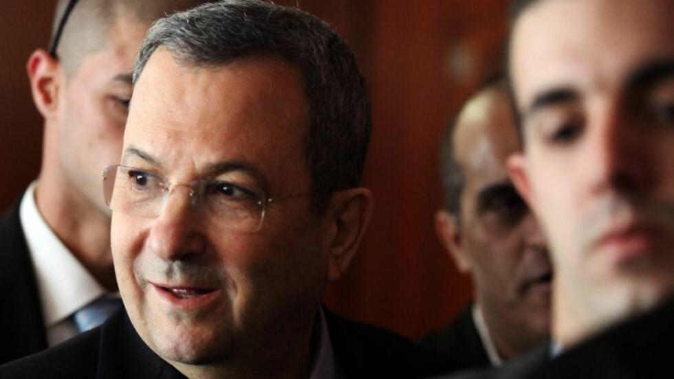 FORSVARSMINISTER:  Ehud Barak. Foto: SCANPIX/  EPA/ABIR SULTAN ISRAEL OUT