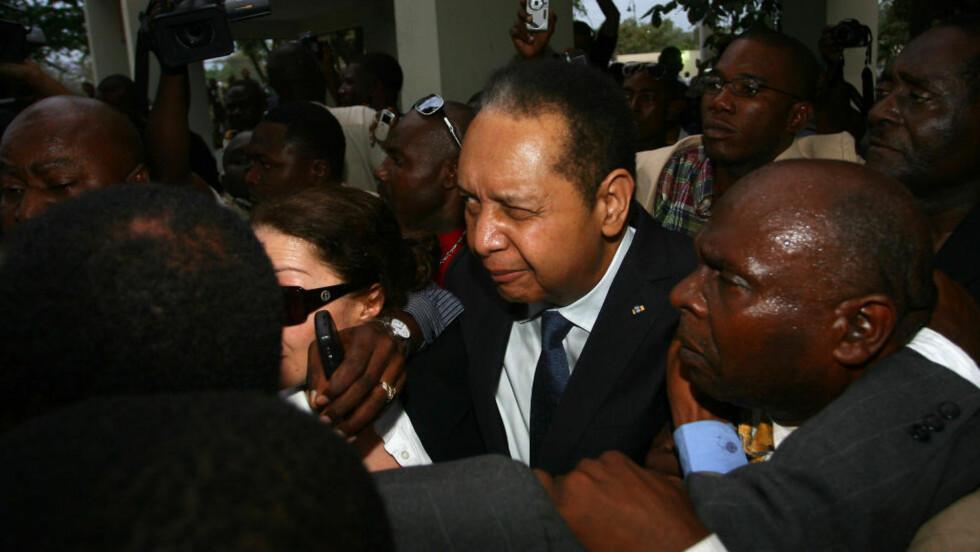 """I RETTEN: Tidligere president i Haiti, Jean-Claude """"Baby Doc"""" Duvalier, møtte i retten etter siktelsen om korrupsjon og underslag. Han er nå løslatt. Foto: Hector Retamal/AFP/Scanpix"""
