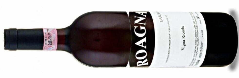 STORT POTENSIALE: Barolo Vigna Rionda 2005 fra Luca Roagna bør lagres i minst åtte år for å nærme seg toppen, mener Dagbladets vinekspert.