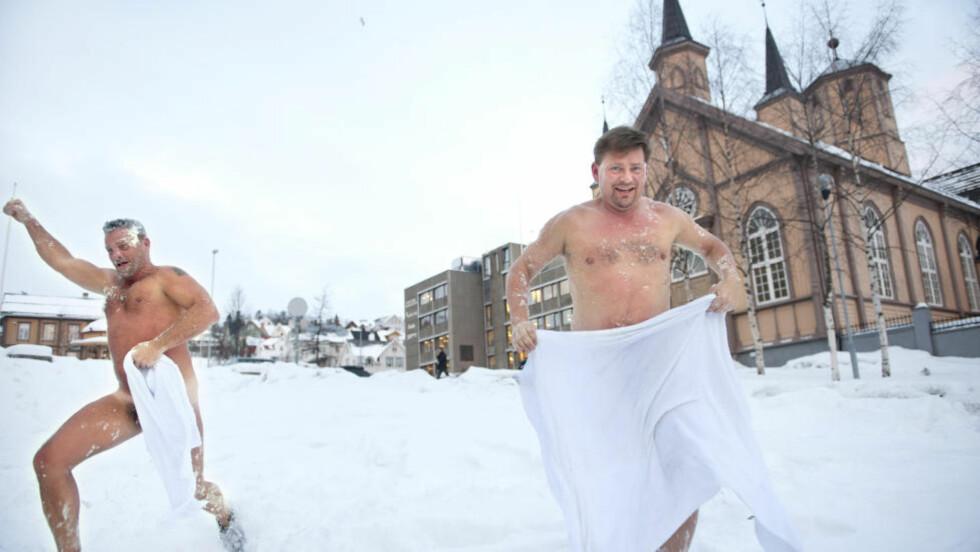 FINSKE FØLELSER: Filmen «Fortellinger fra saunaen» har gjort seg bemerket ikke bare på Filmfestivalen i Tromsø, men på over 50 filmfestivaler verden rundt. Her er Kari Tenhunen (t.v.) og Mikko Rissanen i full utfoldelse i Ishavsbyen. Foto: Ingun A. Mæhlum/TIFF