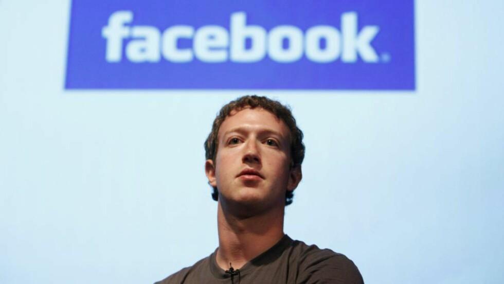 IKKE GUTTEROMSHOBBY LENGER:  Facebook-gründer Mark Zuckerberg frir til investorer - her fra en presentasjon av selskapet i Silicon Valley i California 13. oktober i fjor. ARKIVFOTO: JEFF CHIU, AP/SCANPIX.