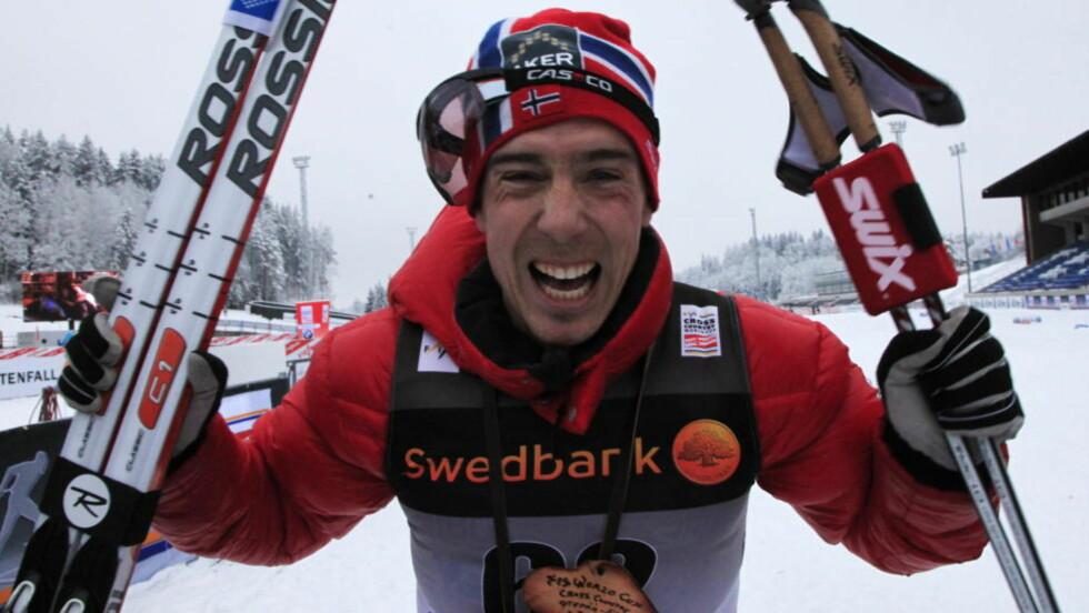 GULLKANDIDAT: Eldar Rønning vant dagens 15 kilometer klassisk i Otepää i Estland. Foto: Erik Johansen, Scanpix
