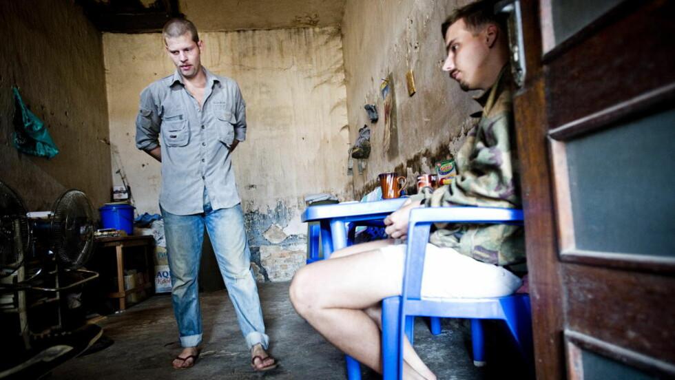 FORTSATT I KISANGANI: Tjostolv Moland og Joshua French. Foto: Thomas Rasmus Skaug/Dagbladet