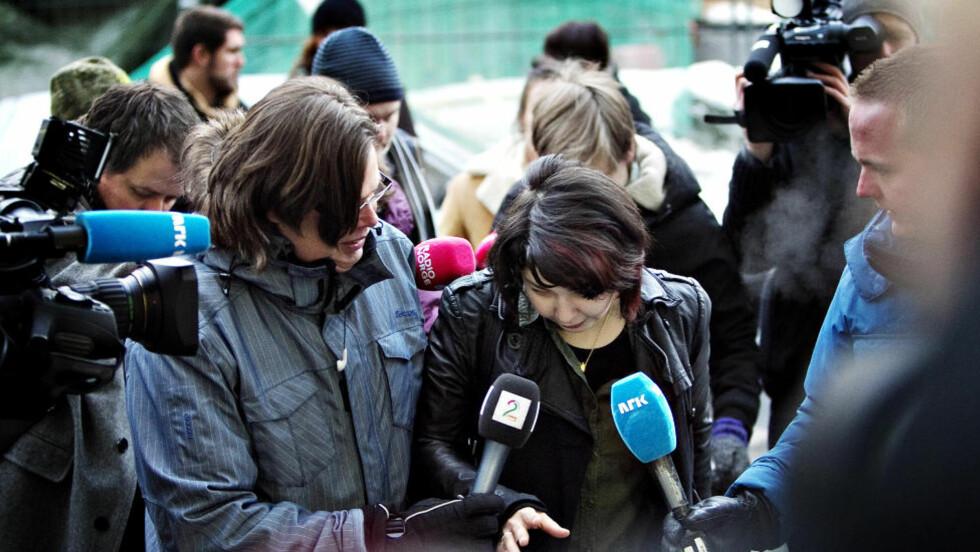 FRI KVINNE I RUSSLAND: Maria Amelie ble fraktet ut av Norge 13.35 i dag. Om et par timer lander hun i Russland - her står immigrasjonsmyndighetene å venter på henne. Foto: Nina Hansen / Dagbladet