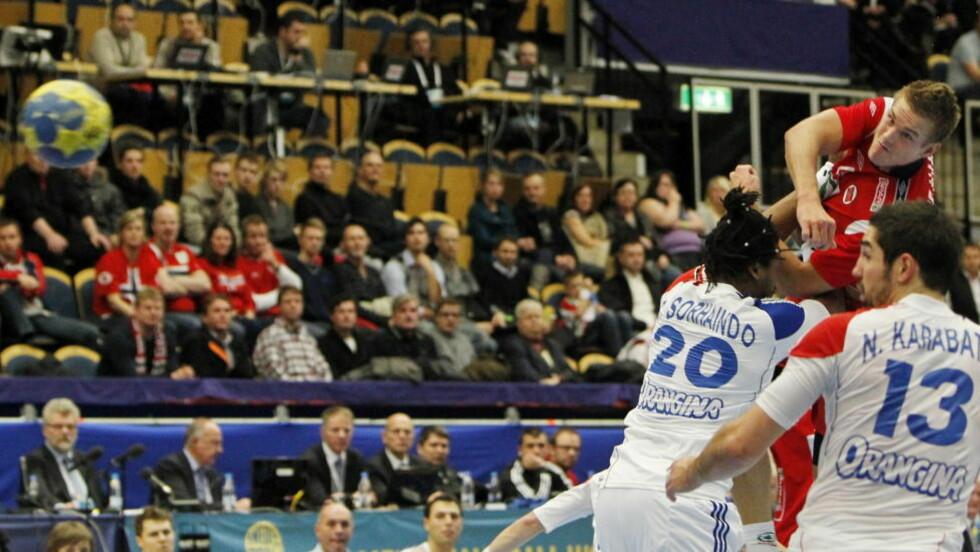 <strong>NY STORKAMP:</strong> Espen Lie Hansen banket inn åtte mål mot Frankrike. Foto: HÅKONS MOSVOLD LARSEN/SCANPIX