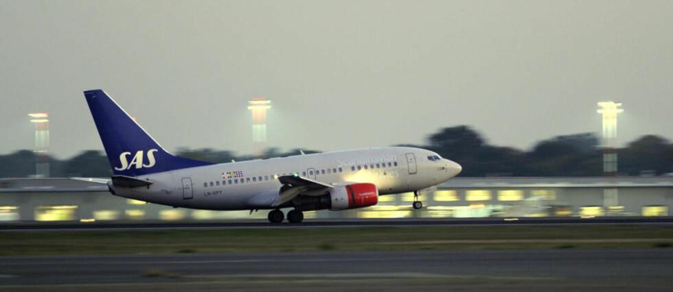 PUNKTLIG: SAS er kåret til det punktligste flyselskapet i Europa. Foto: ODD ANDERSEN/AFP/SCANPIX