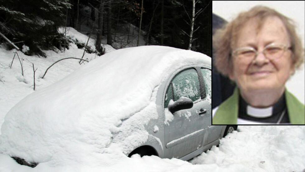 Kjempet for livet: En måned etter hun forsvant den 14. desember i fjor, ble Kerstin Segerberg funnet ihjelfrosset i bilen sin. Foto: Scanpix
