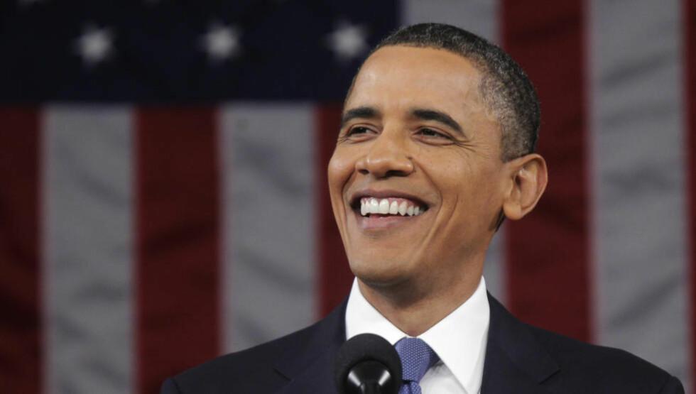 MR GRØNN?: President Barack Obama har vunnet Nobels fredspris. Etter nattens tale til nasjonen kan det se ut til at det er miljøvernerne han frir til. På tide, vil nok noen si. Foto: REUTERS / Pablo Martinez Monsivais