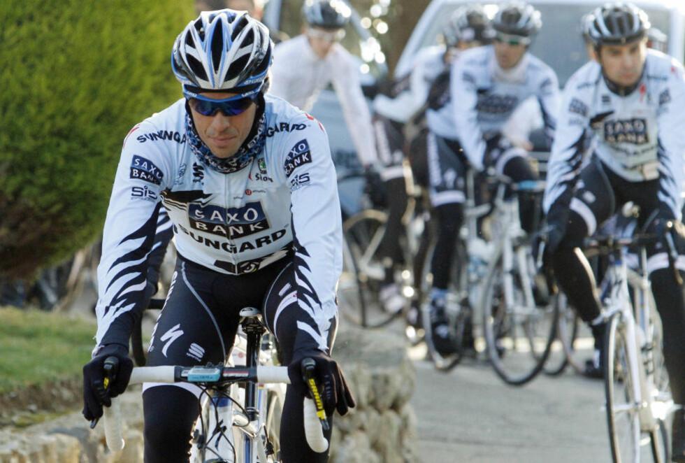 NÆRMER SEG UTFALL: Alberto Contador kan anke en avgjørelse han eventuelt er uenig i. Trolig ender det med ett års utestengelse for Saxo Bank-rytteren.Foto: SCANPIX/REUTERS/Enrique Calvo
