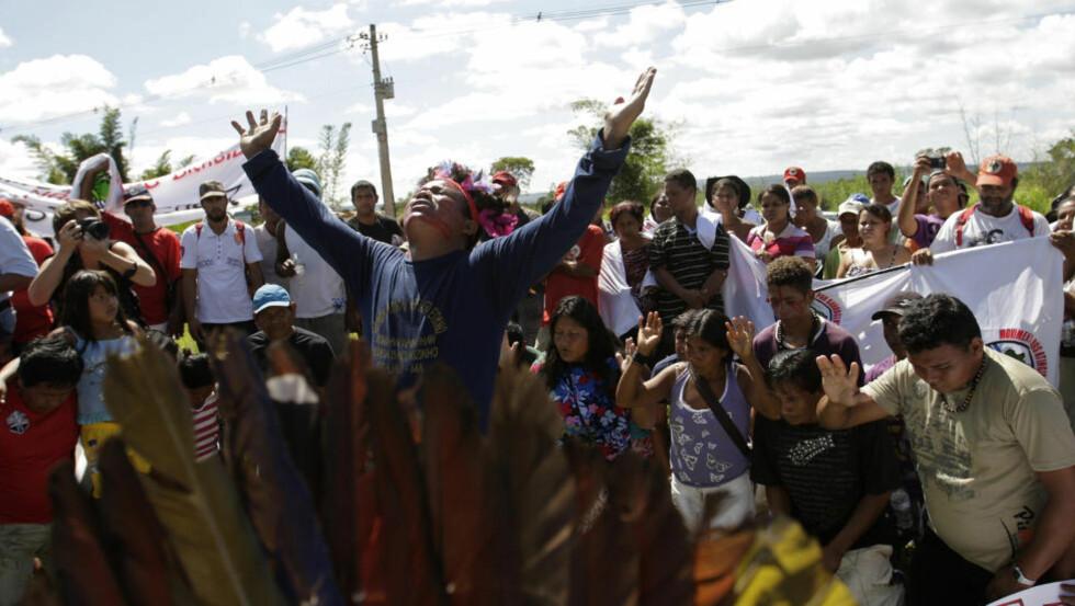 NYTT NEDERLAG: Det omstridte damprosjektet Belo Monte er et viktig skritt nærmere realisering. I 30 år har urbefolkningen kjempet mot planene.    Foto: REUTERS / Ricardo Moraes