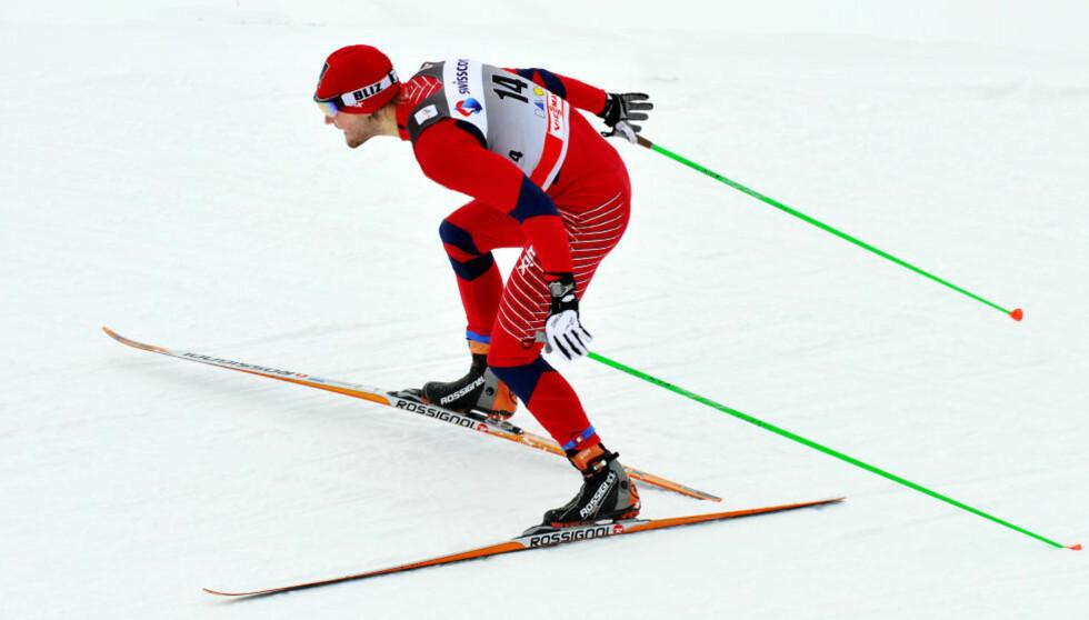 FULL FART: Øystein Pettersen prøver å ikke stresse seg opp før start, men han har ikke en anelse om hvordan formen er før NM-sprinten. Foto: Erik Berglund