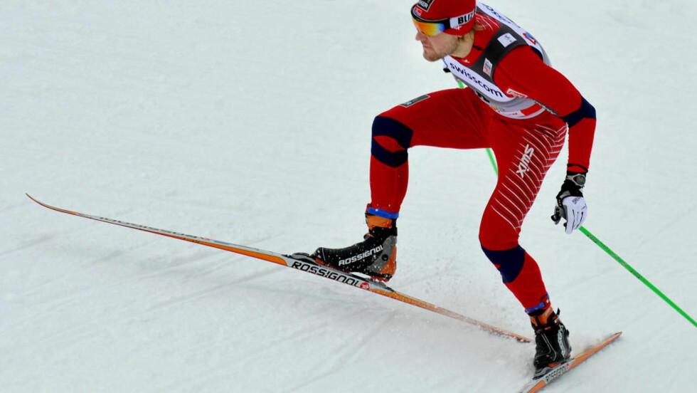 STRESSET BORT:VM-sjansene til Øystein Pettersen forsvant sannsynligvis i alt stresset. Det er dumt for ski-VM. FOTO: Erik Berglund.