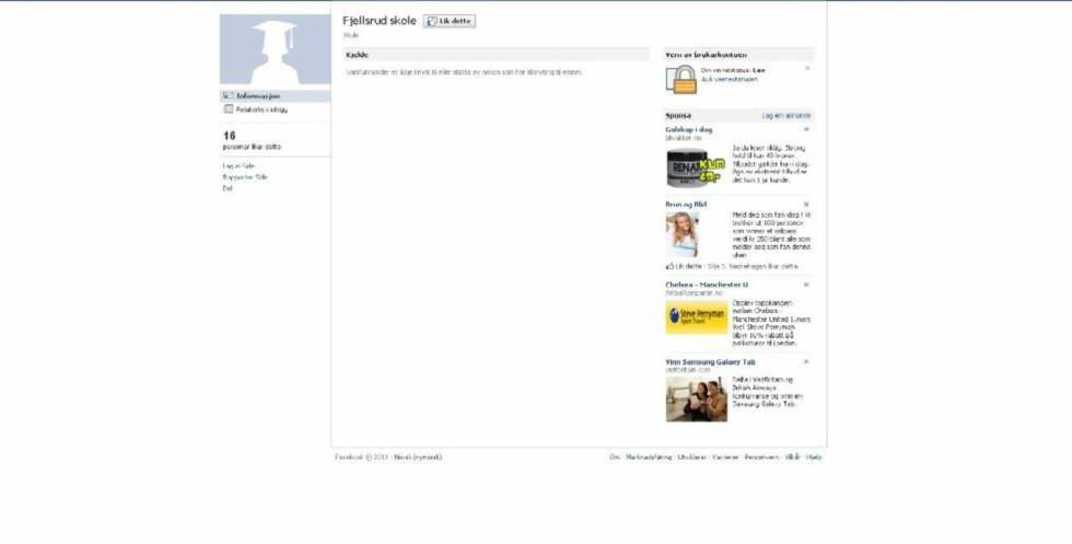 SKREMMENDE: Elever ved Fjellsrud skole oppfattet en beskjed på Facebook som så skremmende at de varslet skolen om det de trodde var en bombetrussel mot egen skole. Foto hentet fra Facebook.