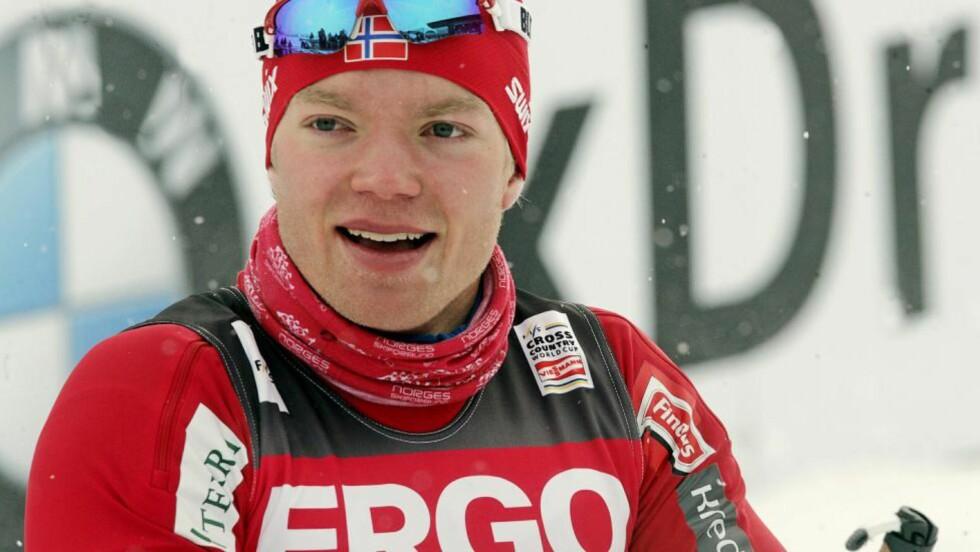 VANT IGJEN: Eirik Brandsdal fulgte opp v-cupseieren fra forrige helg med NM-gull på skøytesprinten i Steinkjer i dag.Foto: SCANPIX/EPA/VALDA KALNINA