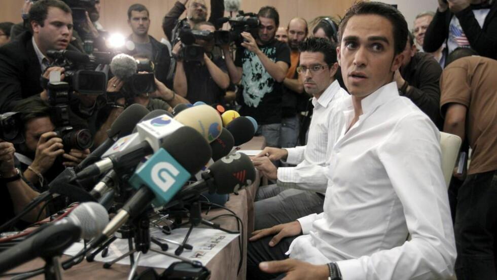 BARE FEIL KJØTT?  Helt fra dopingsaken sprakk, har Alberto Contador forklart den positive prøven med et uheldig kjøttmåltid i Spania. Der er det imidlertid mindre sannsynlig med clenbuterol i kjøttet enn for eksempel i Mexico der to andre ryttere ble tatt. FOTO:  EPA/EMILIO NARANJO
