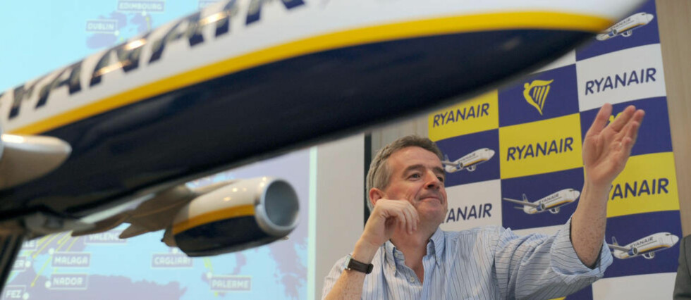 Flere avganger: Ryanair-sjef Michael O'Leary, kan nå skryte av at man også kommer seg til Kos og Thessaloniki fra Rygge med det irske lavprisselskapet. Foto: GERARD JULIEN/AFP/SCANPIX