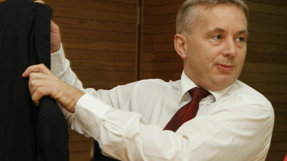 JOBBER IKKE BARE FOR EGNE BARN:  Justisminister Knut Storberget engasjerer seg personlig i en barnebortføringssak i Slovakia mens han selv har pappapermisjon. FOTO: BERIT ROALD, SCANPIX. Foto: Berit Roald / Scanpix