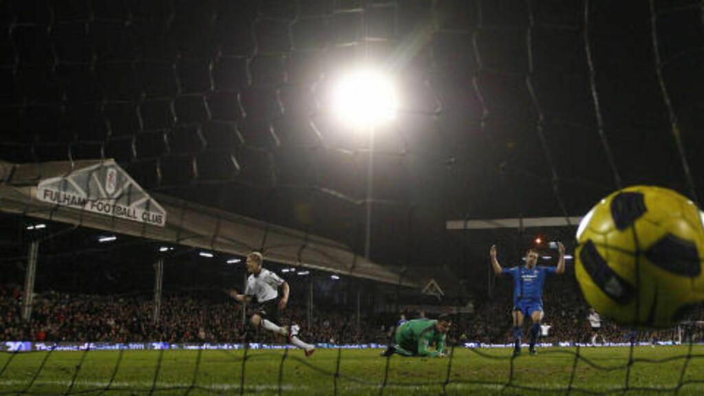 NY HJEMMESEIER: Fulham sprudlet ikke like mye som mot Tottenham i FA-cupen på søndag, men tok allikevel en ny god hjemmeseier da Damien Duff scoret kampens eneste mål mot Newcastle.Foto: SCANPIX/REUTERS/Eddie Keogh