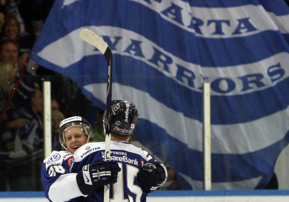 KNUSENDE OVERLEGNE: Sparta Sarpsborgs stilling som Østfolds ishockeykonger er så definitivt ikke truet. Torsdag ble det 5-0 seier borte mot Stjernen.Foto:  Lise Åserud / SCANPIX