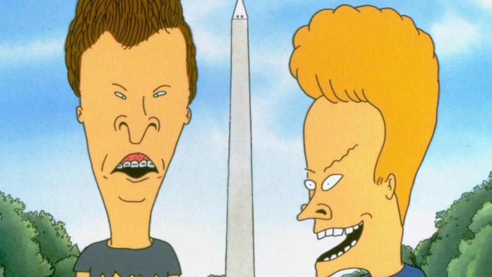 VENDER TILBAKE: De uhelbredelige kompisene Beavis og Butthead. Foto: SCANPIX