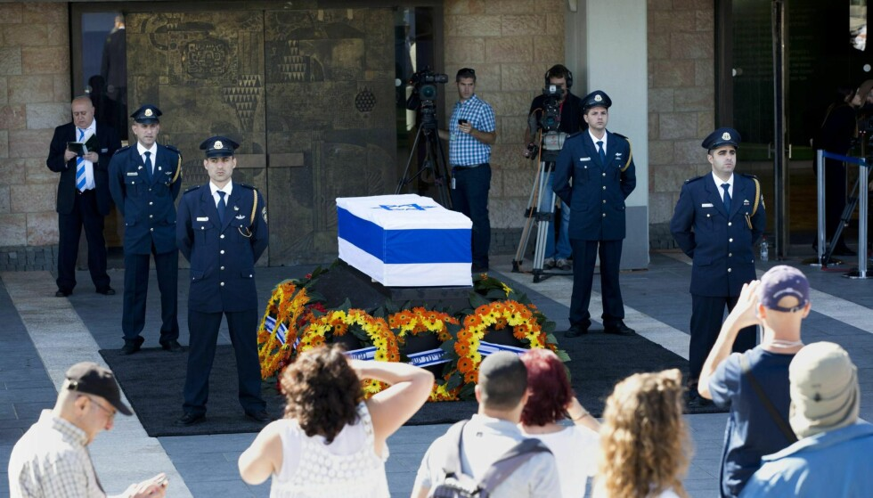 Jerusalem: 29. september ble det holdt en offentlig minneseremoni for avdøde Shimon Peres foran Knesset. Foto: Abir Sultan / EPA / NTB scanpix.