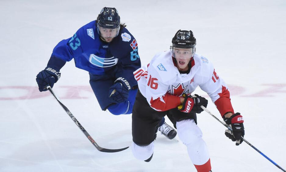 GIKK PÅ TAP: Mats Zuccarello og Europalaget. Foto: Dan Hamilton-USA TODAY Sports/NTB scanpix