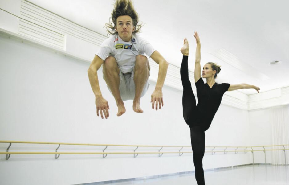 IDRETT OG KUNST: Landslagsløper i kombinert Mikko Kokslien og ballettdanser Stine Østvold Aamodt ved den Den Norske Opera & Ballett deler kunnskap, erfaringer og kultur.