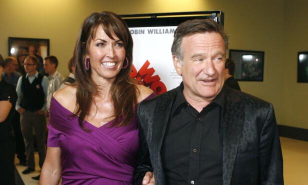 Susan Schneider Williams, kona til Robin Williams, forteller om hvordan det var da ektemannen ble hardt rammet at demens med Lewy-legemer, uten å vite at det var det han led av. FOTO: Reuters / NTB Scanpix