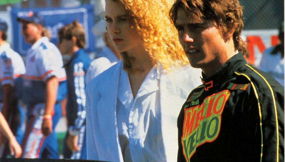 MØTTES PÅ JOBB: Nicole Kidman og Tom Cruise møttes under innspillingen av filmen «Days of Thunder» i 1990. De giftet seg i desember samme året.  Foto: NTB scanpix