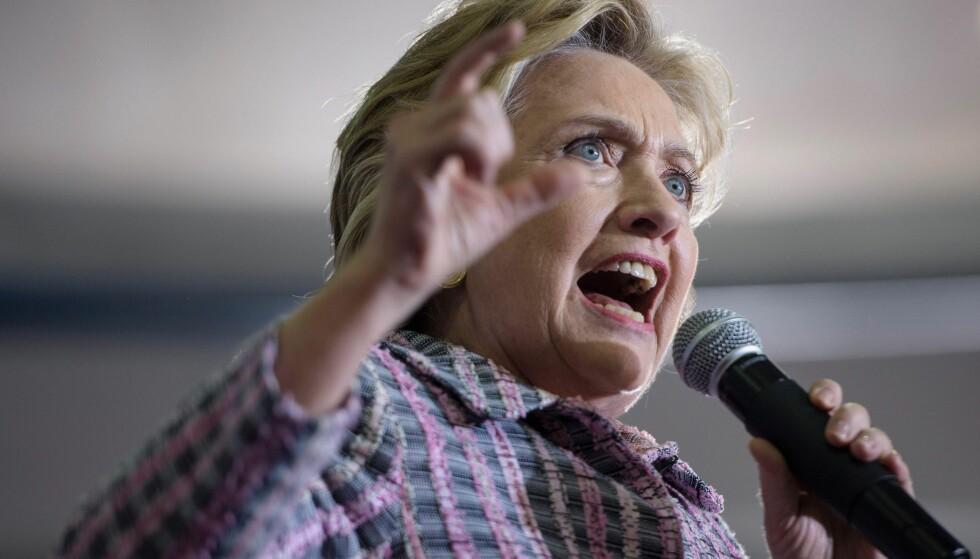 LEKKET: Et opptak av Clinton, som snakket til sine sponsorer i februar, er nå blitt lekker. Foto: Brendan Smialowski / AFP / NTB scanpix