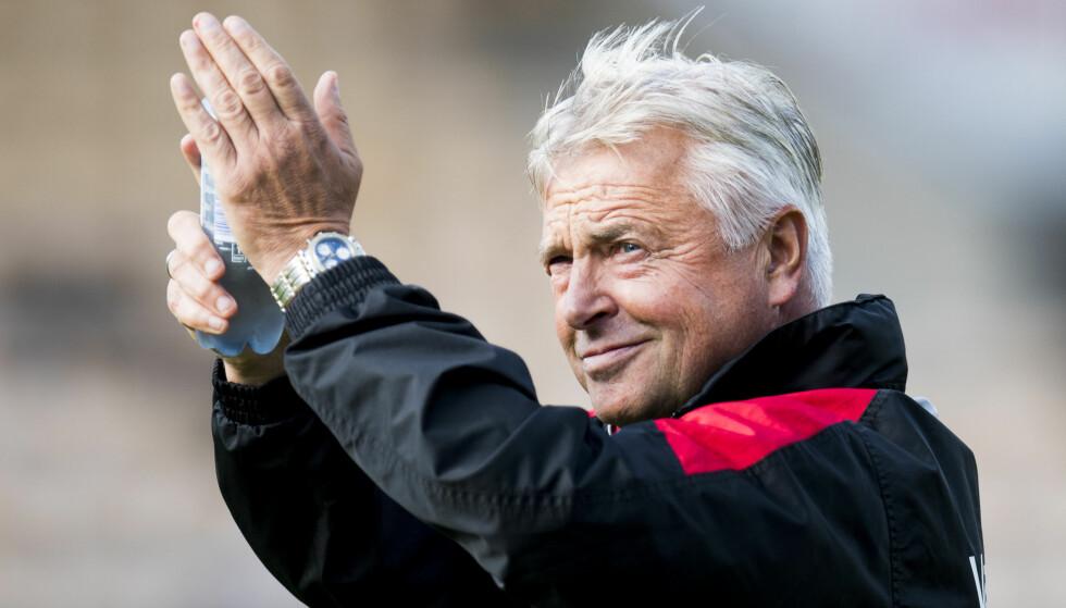 FORNØYD MED SEIER: Lillestrøm-trener Arne Erlandsen. Foto: Jon Olav Nesvold / NTB scanpix