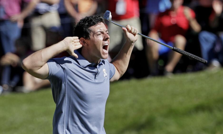 HETSET: Rory McIlroy har fått mange skjellsord etter seg i løpet av Ryder Cup i USA. Foto: David J. Phillip / AP / NTB Scanpix